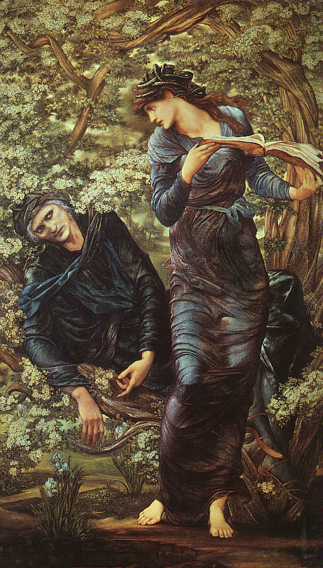 Sir Edward Coley Burne-Jones - The Beguiling of Merlin