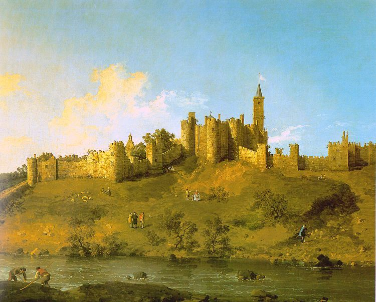 Canaletto - Alnwick Castle at Northumberland