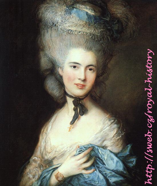 Thomas Gainsborough -  Portrait of Lady in Blue
